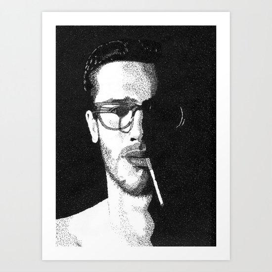 John Frusciante Pointillism Portrait Art Print