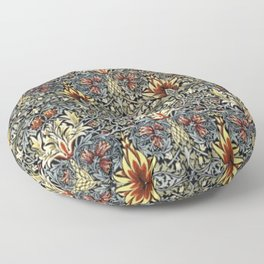 William Morris Indian Snakeshead Victorian Textile Floral Pattern Floor Pillow