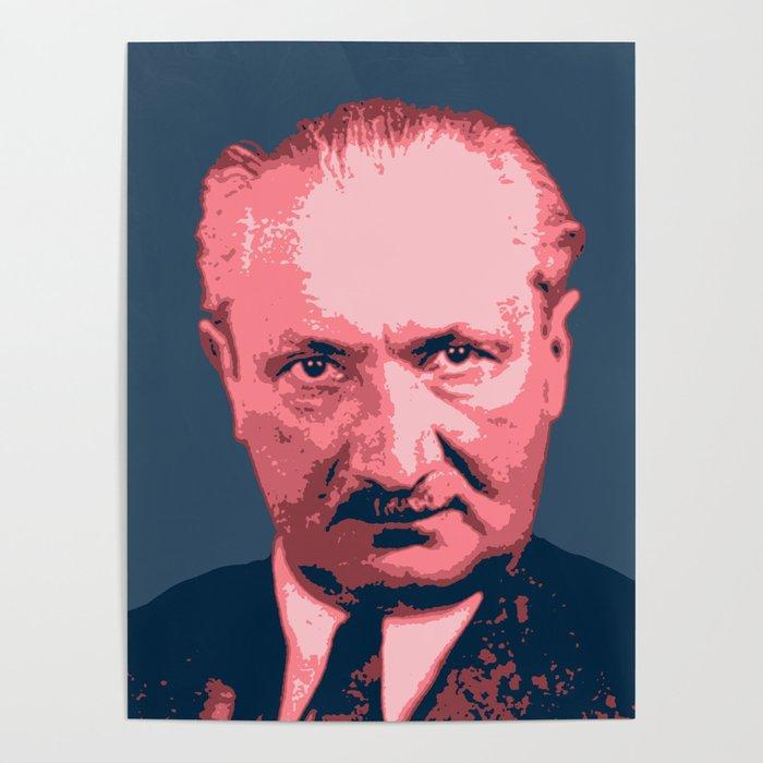Martin Heidegger Poster