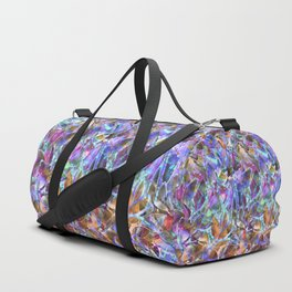 Floral Abstract Stained Glass G268 Duffle Bag