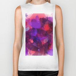 Watercolor stains purple Biker Tank