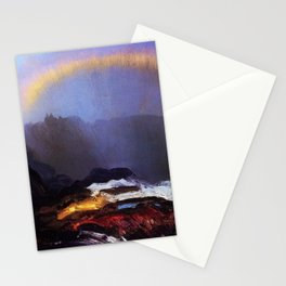Early Morning Coastal Fog & Rainbow landscape painting by George Wesley Bellows Stationery Cards