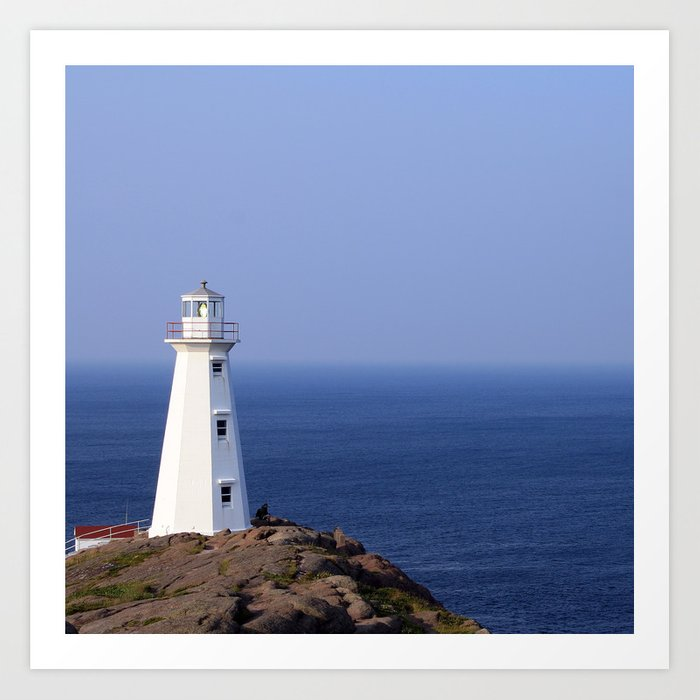 Blue Sky Lighthouse Art Print