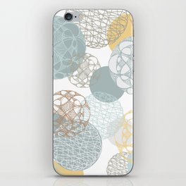 Floating Circles iPhone Skin