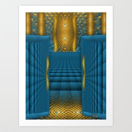 The Temple in my heart   Art Print