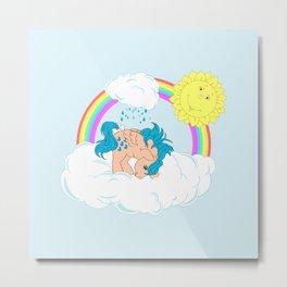 g1 my little pony waterfall Metal Print