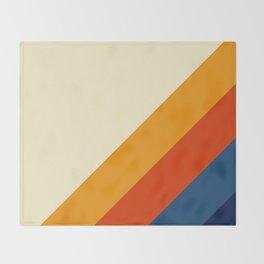 Retro Lines Diagonal Throw Blanket