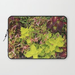 Foliage Fiesta With A Touch Of Begonia Laptop Sleeve