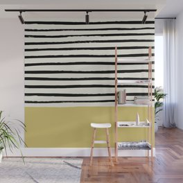 Daffodil Yellow x Stripes Wall Mural