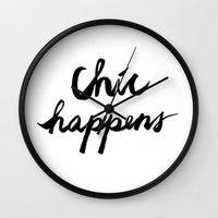 chic Wall Clocks featuring CHIC  by I Love Decor