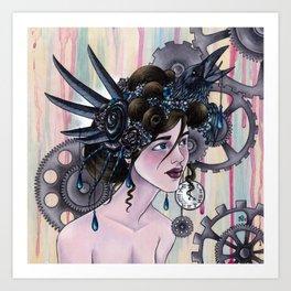 Lady Bird-Head Art Print