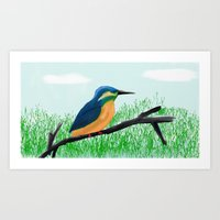 The Kingfisher Art Print
