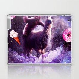 Outer Space Sloth Riding Llama Unicorn - Donut Laptop & iPad Skin