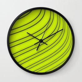 Bright green abstract pattern . Wall Clock