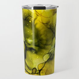Golden nebula Travel Mug