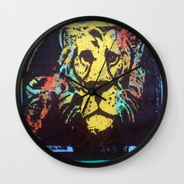 Colorful Lion Wall Clock