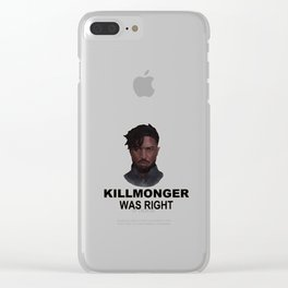 killmonger was right Clear iPhone Case