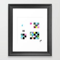 Something Other 3 On White Framed Art Print