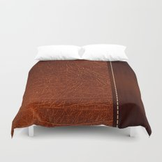 Brown leather look #2 Duvet Cover