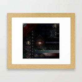 Engulfing the Iris Framed Art Print