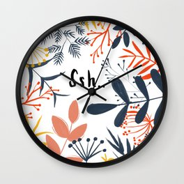 Quiet in the Jungle Wall Clock