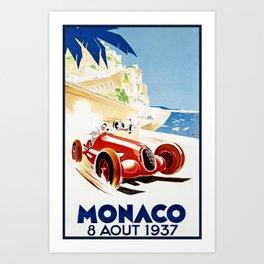 Monaco 1937 Grand Prix Art Print