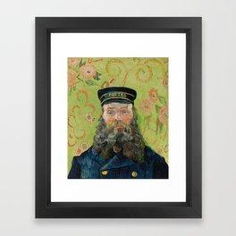 The Postman by Vincent van Gogh Framed Art Print