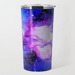 Purple and blue galaxy Travel Mug