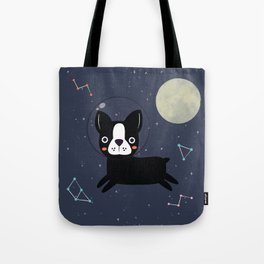 Boston Terrier In Space Tote Bag