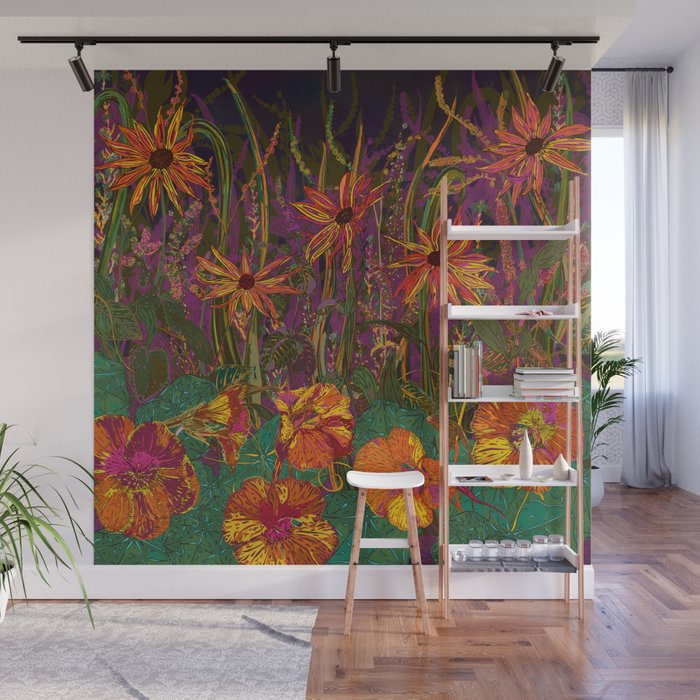 You Can Get By (Autumn Flowers) Wall Mural