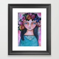 Today I am a flower! Framed Art Print