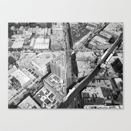 Six Corner Street View Canvas Print