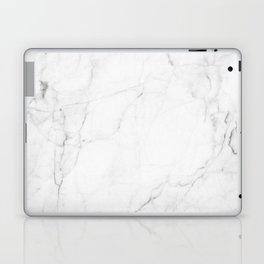 White Marble Print II Laptop & iPad Skin