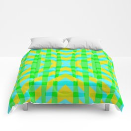Sea Grass Yellow - Coral Reef Series 006 Comforters