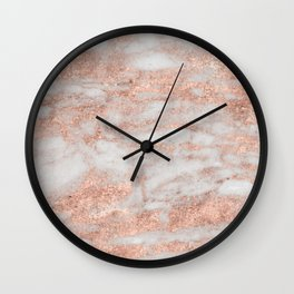 Martino rose gold marble Wall Clock