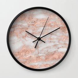 Martino rose gold marble Wall Clock