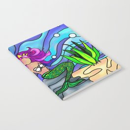 Stained Glass Mermaid Notebook