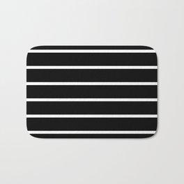 Horizontal Lines (White & Black Pattern) Bath Mat