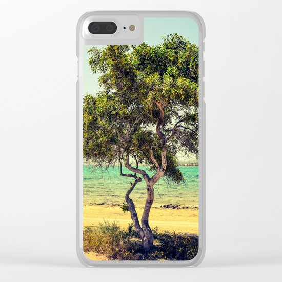 Cyprus Tree Clear iPhone Case