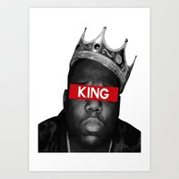 biggie smalls Art Prints featuring Biggie Smalls by Creative Threads