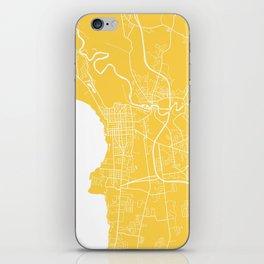 Burlington map yellow iPhone Skin