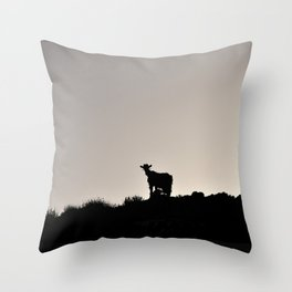 The Goat of Chania Throw Pillow