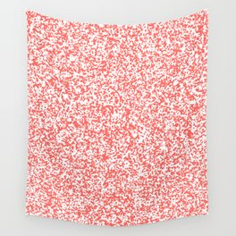 Tiny Spots - White and Pastel Red Wall Tapestry