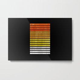 Color blocks textured - Digital Illustration Metal Print
