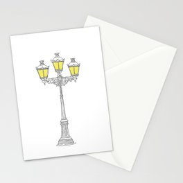 French Quarter Street Lamps Stationery Cards