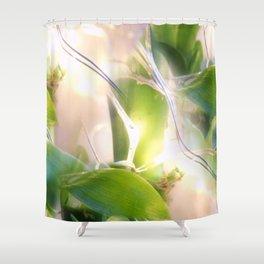 Bamboo Lights Shower Curtain
