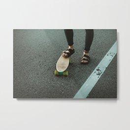 Penny Board & Birks Metal Print