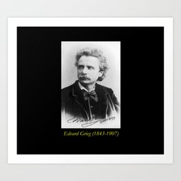 Elliot and Fry - Portrait of Grieg Art Print