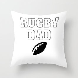 Funny Rugby Dad Throw Pillow