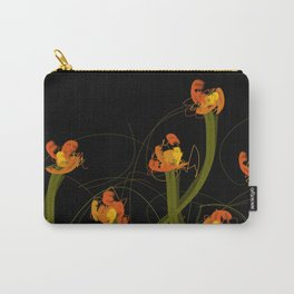 Flowerthread No1 [orange blooms] Carry-All Pouch